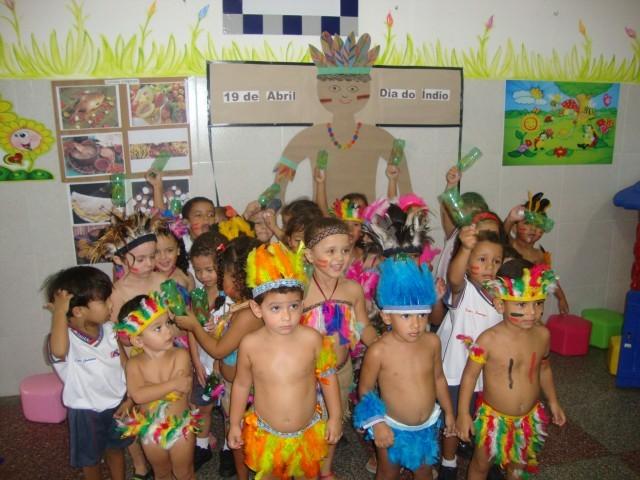 Comemoração do Dia do Índio no Colégio O Saber