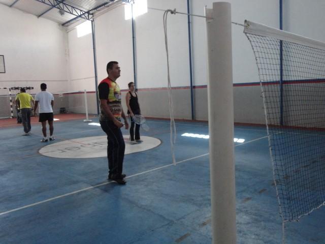 Curso de Badminton no Colégio O SABER