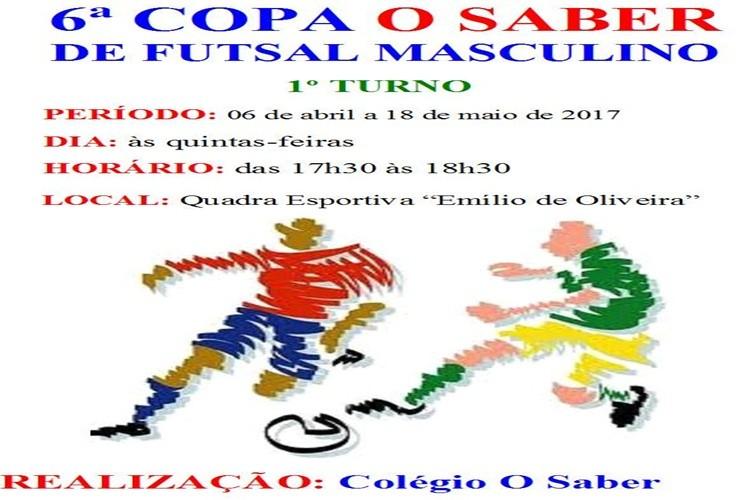 6ª Copa O Saber de futsal masculino 2017