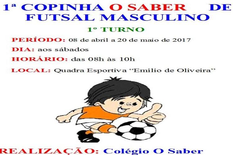 Boletim nº 02 da 1ª Copinha O Saber de Futsal Masculino