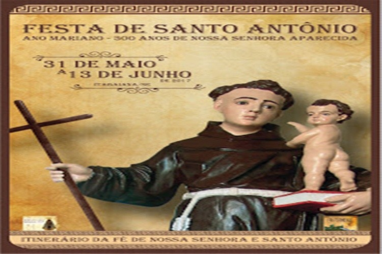 Programação do Trezenário e Festa de Santo Antônio em Itabaiana 2017